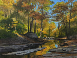 KEVIN BEERS Autumn Stream oil on panel, 12 x 16  $2200