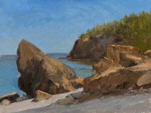 KEVIN BEERS Owls Head Rocks oil on panel, 12 x 16  $2200