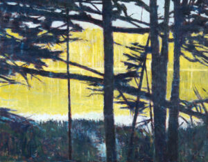 TOM CURRY Hidden Pond oil on birch panel, 28 x 36 inches $6200