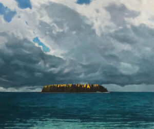 TOM CURRY Summer Tempest oil on birch panel, 48 x 57 inches $23,000