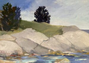 KATE EMLEN Conary Rocks oil on linen, 20 x 28 inches $2800
