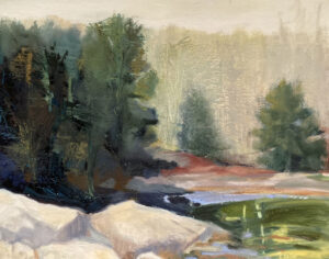 KATE EMLEN Study for Seal Cove oil on paper on panel, 11 x 14 inches $1600