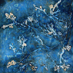 LISA TYSON ENNIS Drink the Wild Air unique cyanotype on paper, 26 x 26 inches