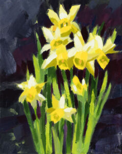 PHILIP FREY Spring is Here oil on canvas, 10 x 8 inches $900