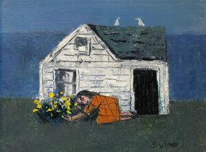 WILLIAM IRVINE Spring Garden oil on panel, 12 x 16 inches $2800