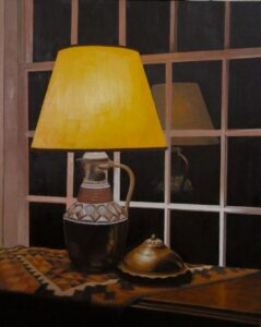 B MILLNER Copper Light oil on canvas wrapped panel, 30 x 24 inches $4500