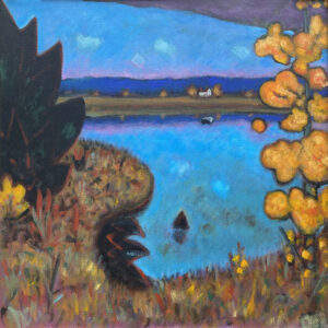 PHILIP BARTER Across the Bay acrylic on board, 30 x 30 inches $4400