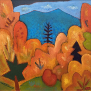 PHILIP BARTER Approaching Saddleback Mt. acrylic on board, 30 x 30 inches $4400