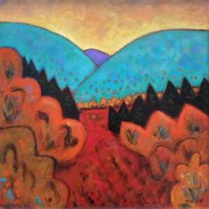 PHILIP BARTER Blueberry Field acrylic on board, 30 x 30 inches $4400