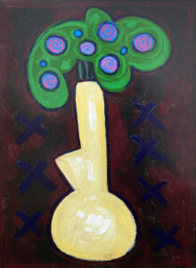PHILIP BARTER Floral acrylic on board, 30 x 24 inches $3500