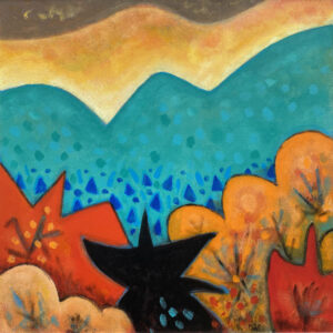 PHILIP BARTER Mt. Bigalow Fall acrylic on board, 30 x 30 inches $4400