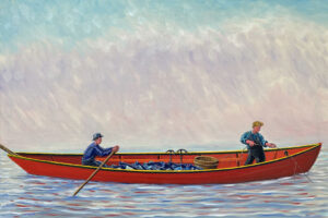 JOHN NEVILLE Hauling a Trawl in Fog oil on canvas, 24 x 36 inches $6500