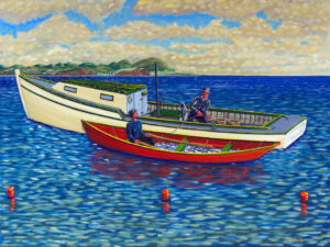 JOHN NEVILLE Let's Go Fishing oil on canvas, 30 x 40 inches $8500