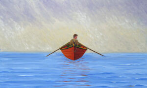 JOHN NEVILLE Lost in Fog oil on canvas, 36 x 60 inches $12,800