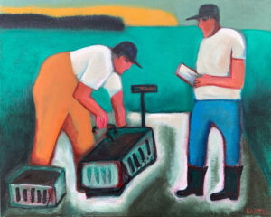 MATT BARTER Weighing Out oil on board, 24 x 30 inches $2200