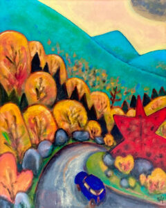 PHILIP BARTER Mountain Road acrylic on board, 30 x 24 inches $3600