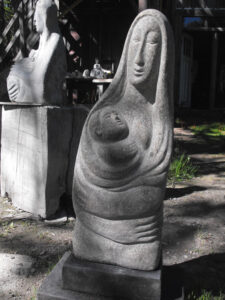 LISE BECU Mother and Child granite, 30h x 12 x 7 inches $4600