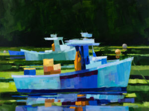 PHILIP FREY Bow to Stern oil on canvas, 36 x 48 inches SOLD