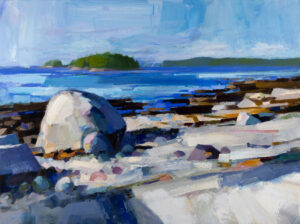 PHILIP FREY Crystalline Coast oil on canvas, 30 x 40 inches SOLD