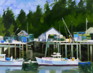 PHILIP FREY Delivering the Catch oil on canvas, 24 x 30 inches SOLD