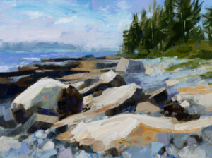 PHILIP FREY Granite Verses oil on canvas, 18 x 24 inches SOLD