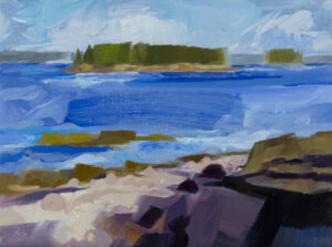 PHILIP FREY Grindstone Coast oil on linen, 12 x 16 inches SOLD