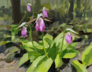 PHILIP FREY Lady Slippers oil on linen, 11 x 14 inches SOLD
