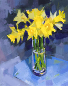 PHILIP FREY Ode to Daffodils oil on canvas, 10 x 8 inches $900