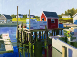 PHILIP FREY Patterns and Piers oil on linen, 30 x 40 inches $6800