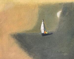 WILLIAM IRVINE Evening Sail oil on canvas, 24 x 30 $4800