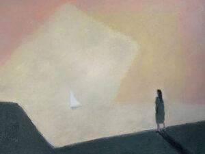 WILLIAM IRVINE Evening Walk oil on canvas, 36 x 48 inches SOLD