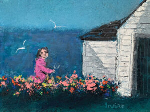 WILLIAM IRVINE Garden by the Sea oil on panel, 12 x 16 inches SOLD