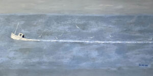 WILLIAM IRVINE Heading Out oil on canvas, 36 x 72 inches SOLD