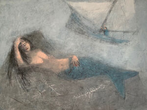 WILLIAM IRVINE Mermaid in the Fog oil on canvas, 30 x 40 inches SOLD