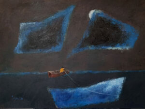 WILLIAM IRVINE Night Fishing oil on canvas, 30 x 40 inches SOLD