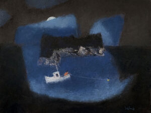WILLIAM IRVINE Night Fishing oil on canvas, 30 x 40 inches $7800
