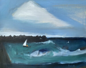 WILLIAM IRVINE Sailing the Bay oil on panel, 24 x 30 inches $4800
