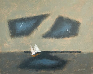 WILLIAM IRVINE September Sail oil on canvas, 24 x 30 inches SOLD