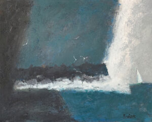 WILLIAM IRVINE Storm Over Tinkers oil on panel, 24 x 30 inches $4800