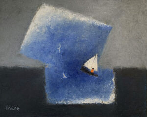 WILLIAM IRVINE The Blue Cloud oil on panel, 24 x 30 inches SOLD
