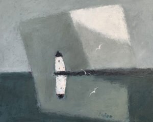 WILLIAM IRVINE The Lighthouse oil on panel, 24 x 30 inches SOLD