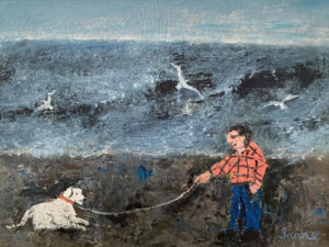 WILLIAM IRVINE The Old Dog oil on panel, 12 x 16 inches SOLD