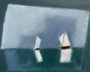 WILLIAM IRVINE Two Sail Boats oil on panel, 24 x 30 inches $4800