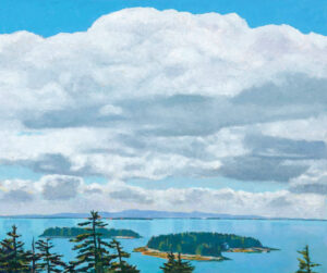 TOM CURRY Big Sky oil on birch panel, 36 x 43 inches $14,000