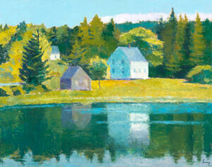 TOM CURRY Hatch Cove oil on birch panel, 22 x 28 inches $5600