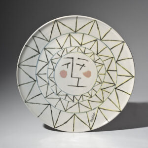 WILLIAM IRVINE Solstice porcelain plate with Mark Bell, 14 inches $1800