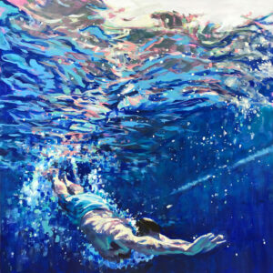 JESSICA LEE IVES Everything Started in Water oil on panel, 24 x 24 inches $3000