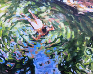 JESSICA LEE IVES Hydrophile I oil on panel, 8 x 10 inches $900