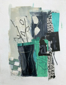 ROSIE MOORE Art mixed media on paper, 18 x 14 inches SOLD