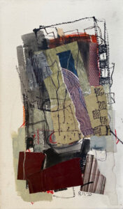 ROSIE MOORE Aubergine mixed media on paper, 22.5 x 12.25 inches $1800